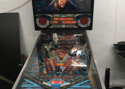 retro leisure Terminator 2 pinball repair