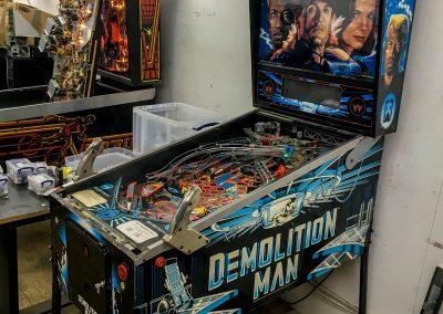 retro leisure demolition man pinball serviced